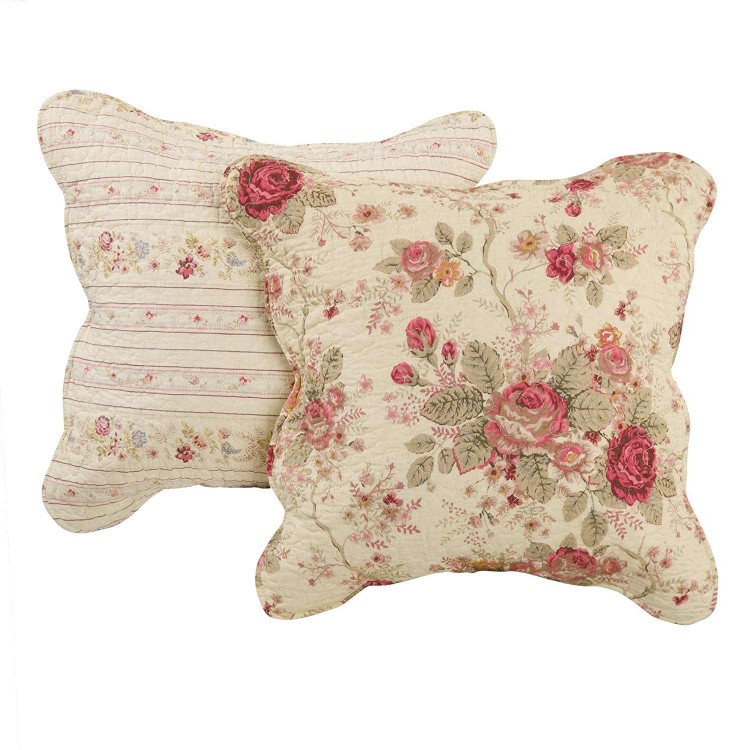Greenland Home Antique Rose Dec. Pillow Pair Accessory-Multi, Multicolor