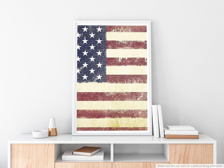 Eau Zone Home Bild - Bild der USA Flagge- Poster Fotodruck in ...