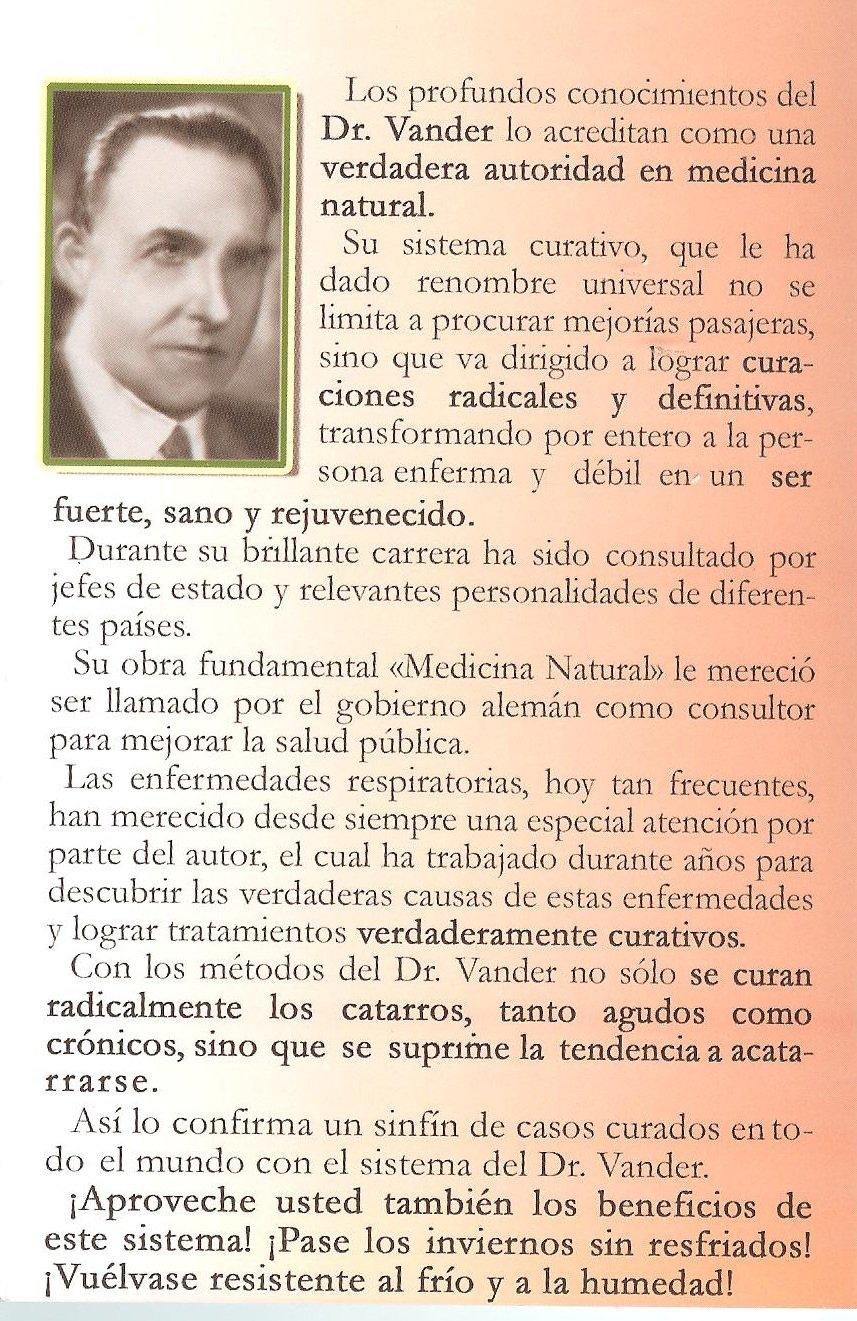 Tos y Bronquitis. Como curarlas, como evitarlas con la medicina natural. (Spanish Edition): Dr. Vander, Berbera Editores: 9786077872016: Amazon.com: Books