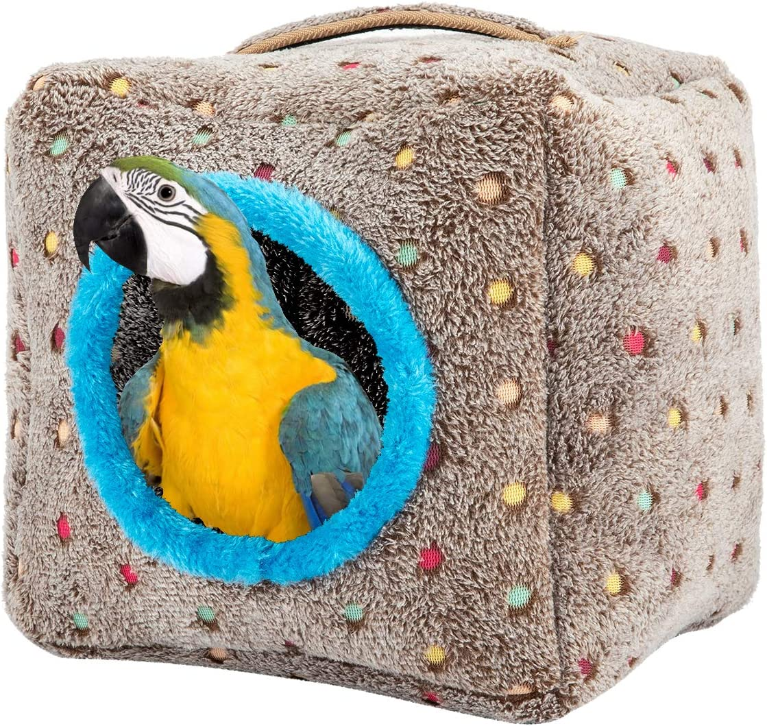 MEWTOGO Large Size Bird Snuggle Hut Nest with Thickened Top and Bottom