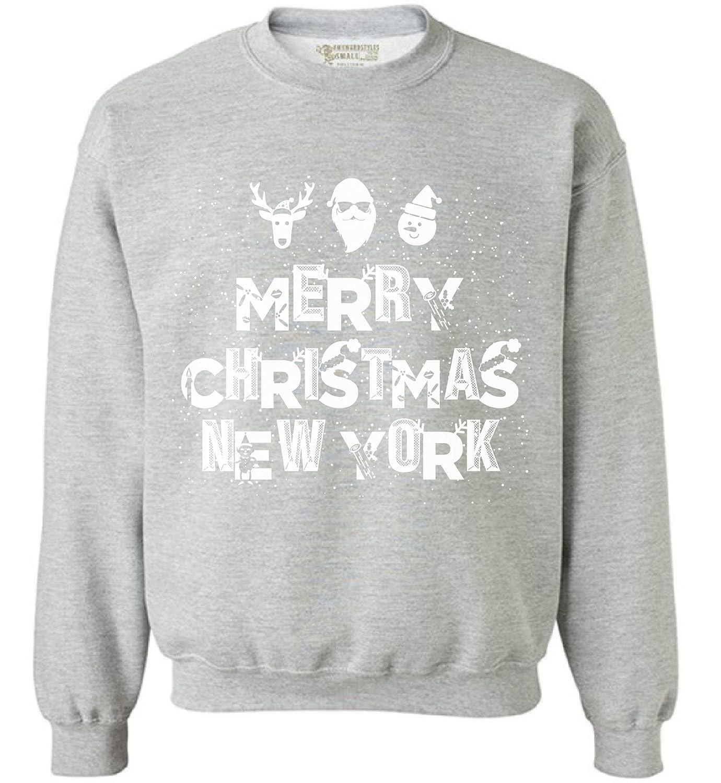Awkward Styles Merry Christmas New York Sweatshirt New York Christmas Sweater Xmas New York