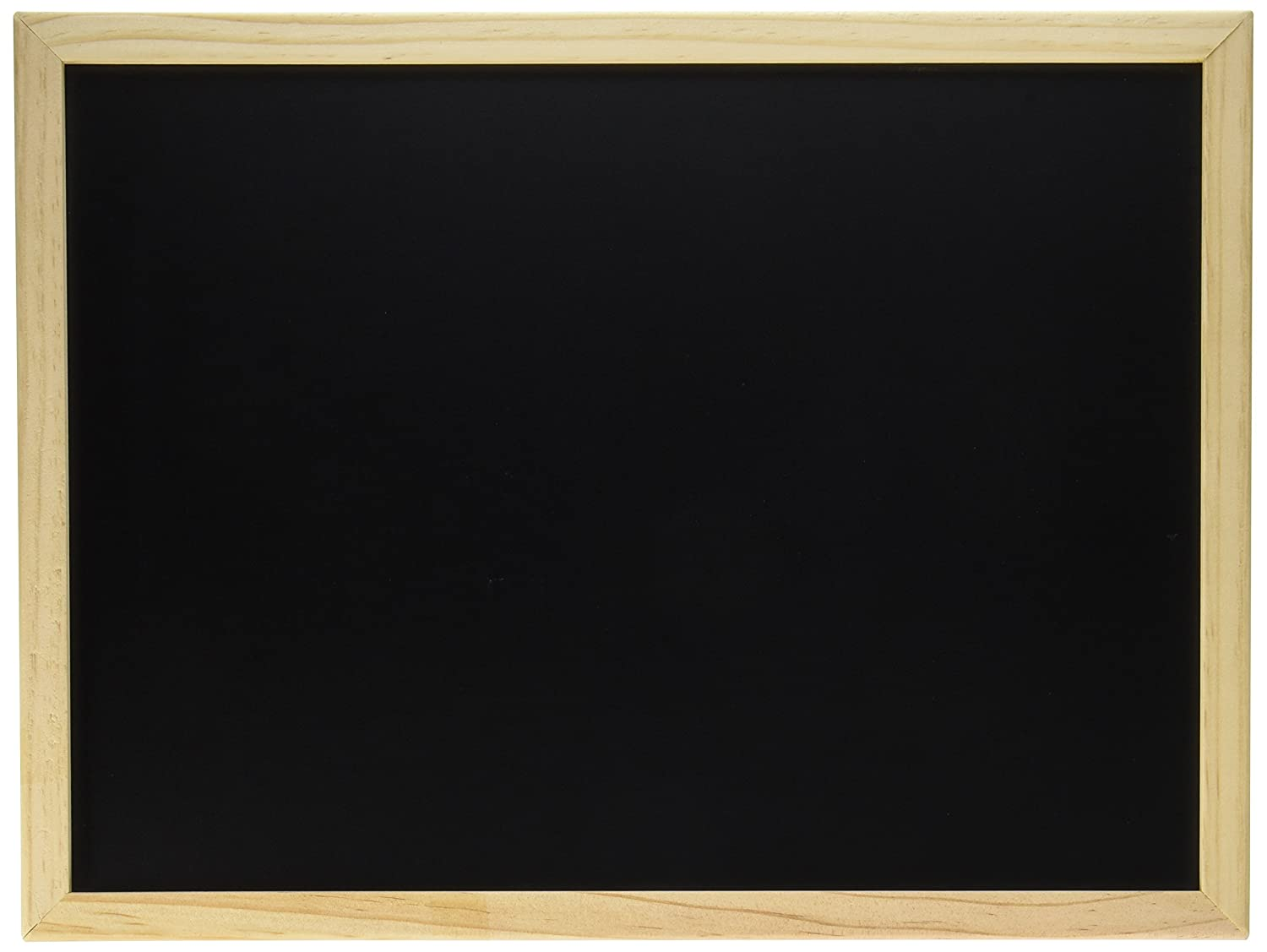 Darice 9172-76 Black Board with Wood Frame, 12 by 16-Inch