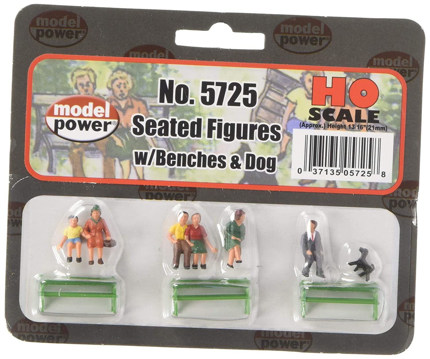 Model Power 5725 Sitting Figures w Bench 6 HO