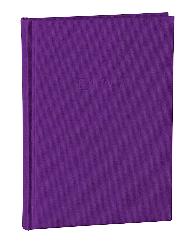 Semikolon (350883) Adressbuch Medium grey (grau) | Adress-Buch mit Einband aus Buchleinenbezug | 192 Seiten mit Register | 12, 5 x 17, 2 cm 1115