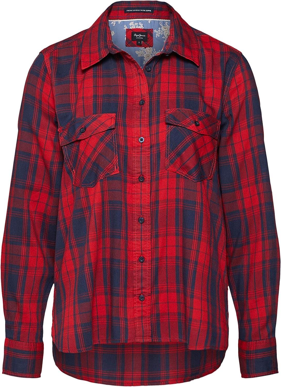 Pepe Jeans - Memphis -280 Berry - Camisa Estampado Cuadros para Mujer (XS): Amazon.es: Ropa y accesorios