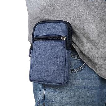 Amazon.com: DFV mobile - Funda Universal Multiusos con Varios Compartimentos para Cinturon y Mosqueton para=> INFOCUS Turbo 5 Plus > Azul (17 x 10.5 cm): ...