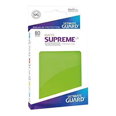 Ultimate Guard Supreme UX Card Sleeves (80 Piece), Matte Light Green, Standard Size: Toys & Games