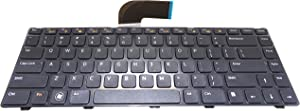 Dosens Laptop Replacement Keyboard for Dell INSPIRON 14R N4110 M5040 M5050 N5040 N5050 XPS 15R L502 L502X Series Black US Layout