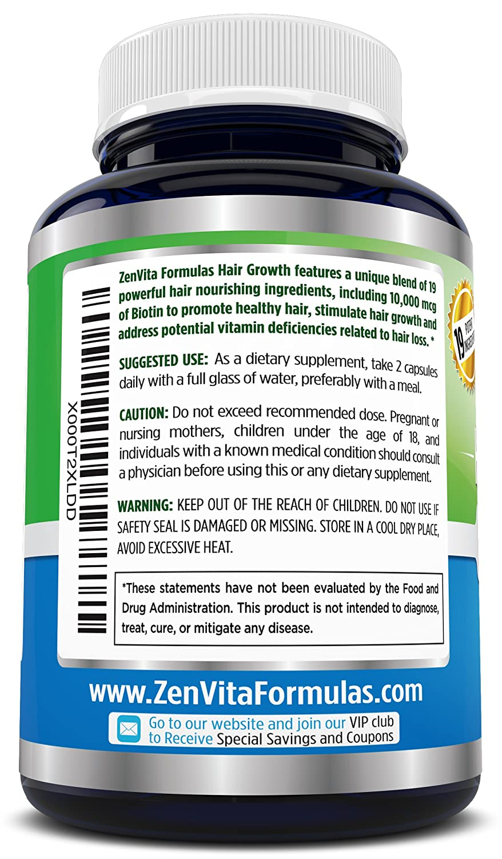 Amazoncom Hair Growth Vitamins With  Mcg Biotin  Hair - How much biotin to take for hair growth