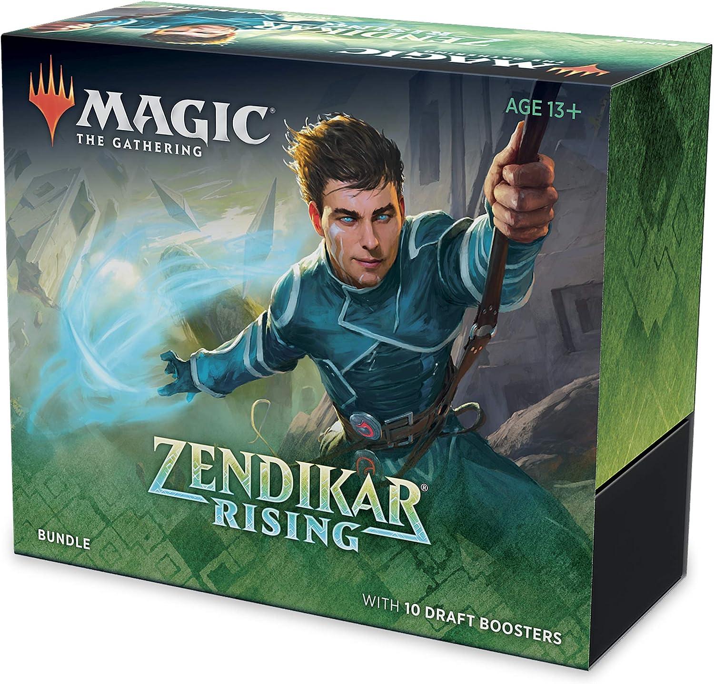 Magic: The Gathering Zendikar Rising Bundle | 10 Draft Booster Packs (150 Cards) | Foil Lands | Accessories