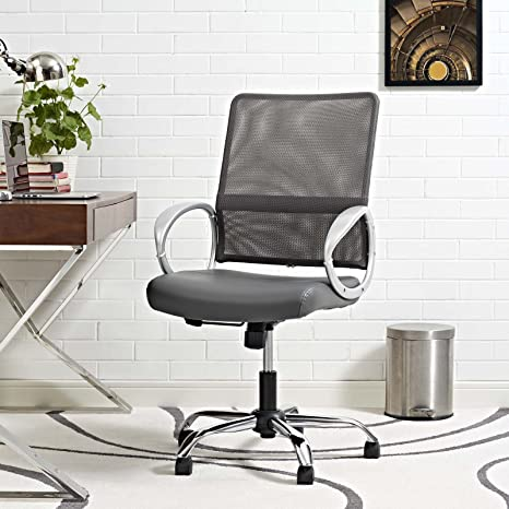 Phenomenal Modway Eei 2861 Gry Command Mesh And Vinyl Office Chair Gray Ocoug Best Dining Table And Chair Ideas Images Ocougorg