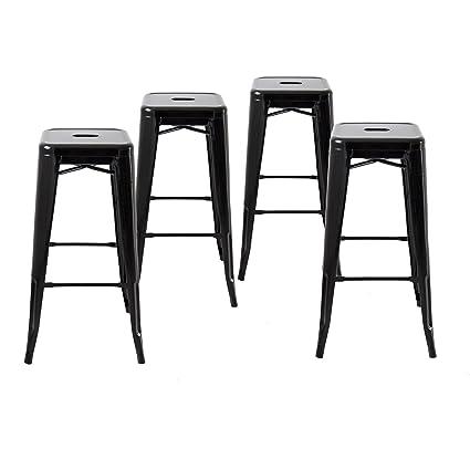 Amazoncom Buschman Metal Bar Stools 30 Bar Height Indooroutdoor