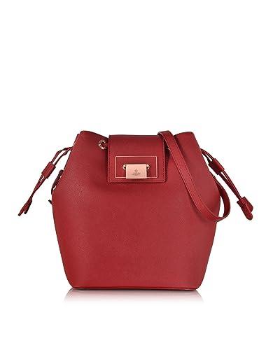 12c5ec0f4b Vivienne Westwood Designer Handbags Red Opio Saffiano Leather Large Bucket  Bag: Amazon.co.uk: Shoes & Bags