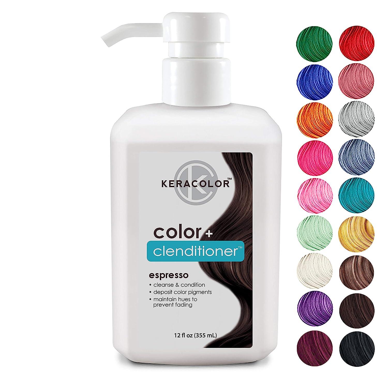 Keracolor Clenditioner ESPRESSO Hair Dye - Depositing Color Conditioner Colorwash, Semi Permanent, Vegan and Cruelty-Free, 12 fl Oz: Premium Beauty