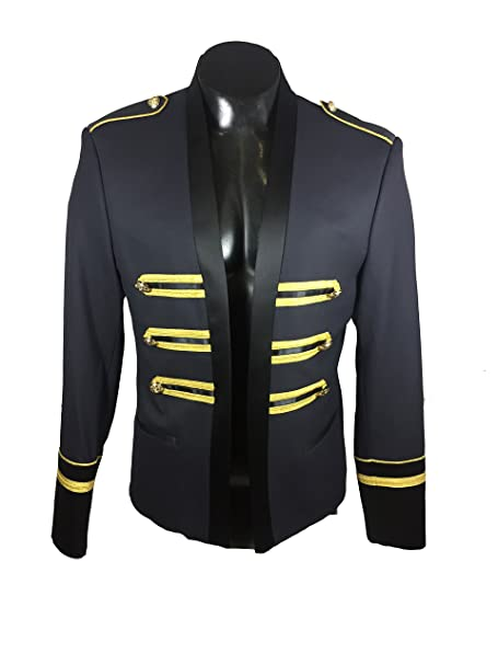 88fc6686 Zara Men's Jacket with golden bands 4361/513 (48 EU): Amazon.ca ...