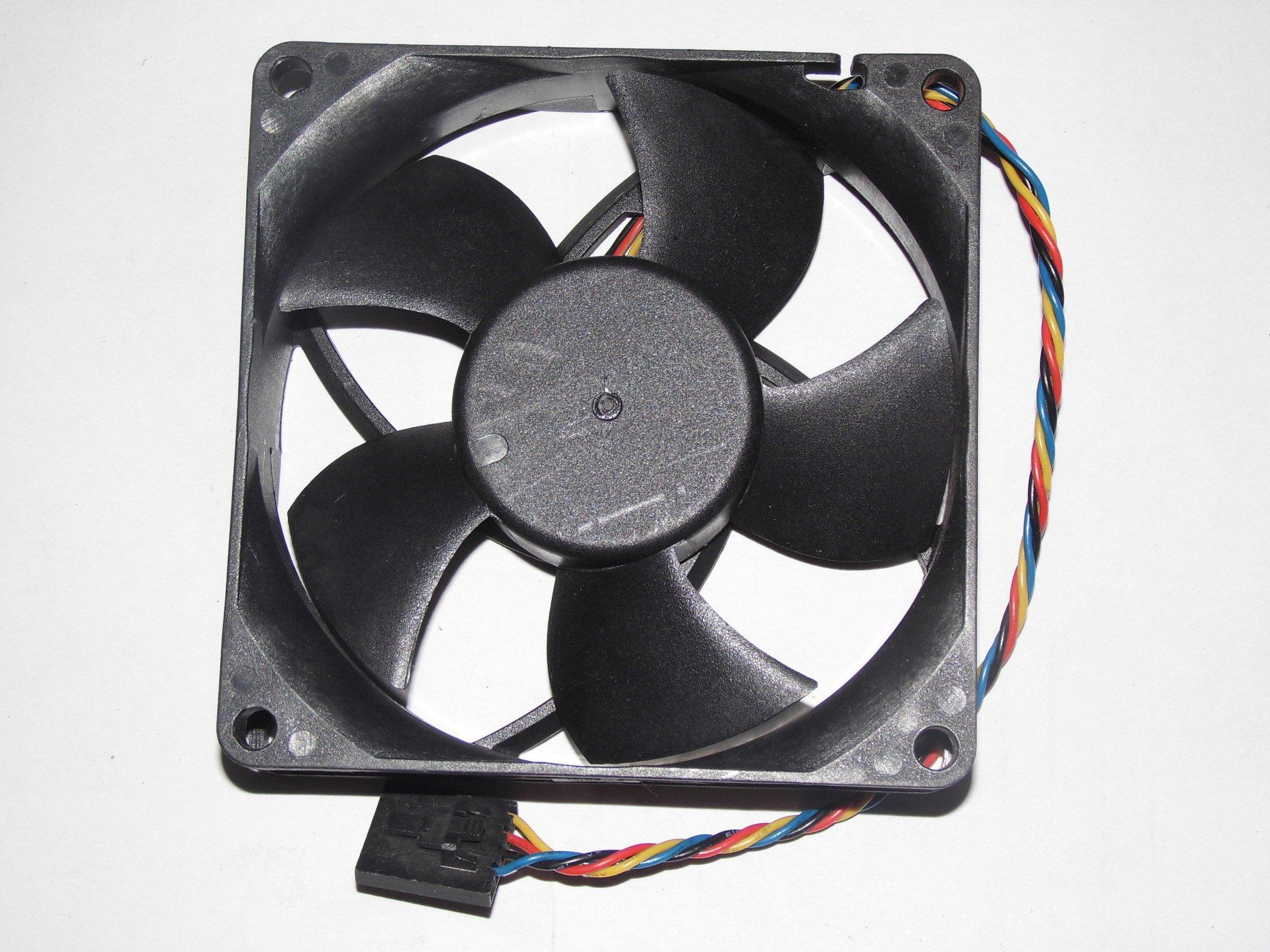 zyvpee 80x80x25mm PLA08025S12HH-1 12V 0.5A 4Wire 8cm CPU Cooler Case Fan