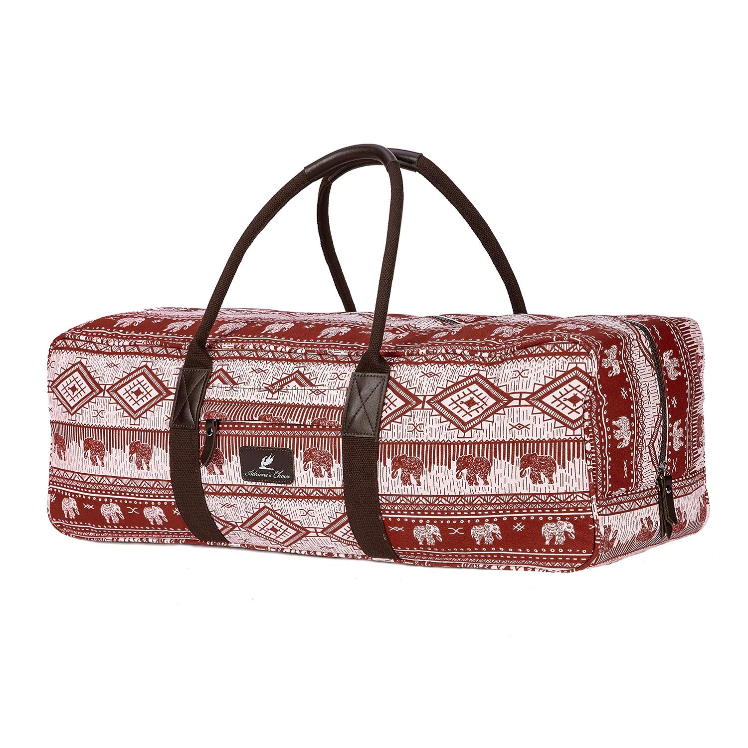 Professional Yoga Mat Bag, Extra Large Yoga Mat and Accessories Carrier, Gym Duffel Holdall Bag, Fits Standard Size & Thick Mats (Extra Large, XL) (Wine Red)