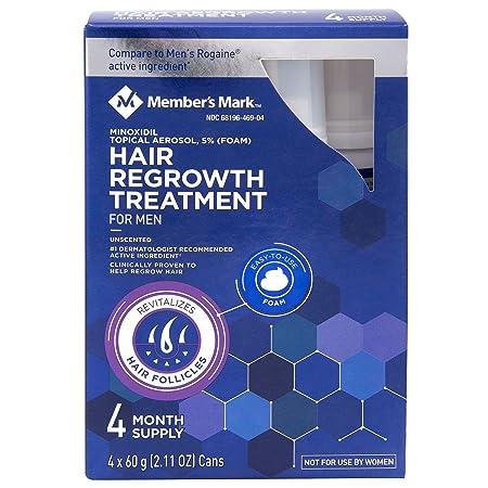 Hair Regrowth Treatment For Men 4 Month Supply Foam Minoxidil 5 Foam 2.11 oz, 4 ct.