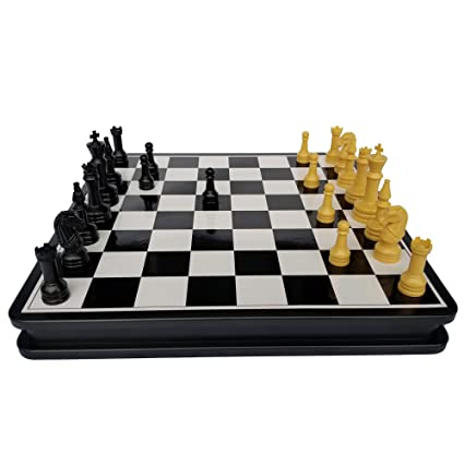 Amazon.com: Pavilion Travel Chess Set Portable and Self-storing: Toys & Games