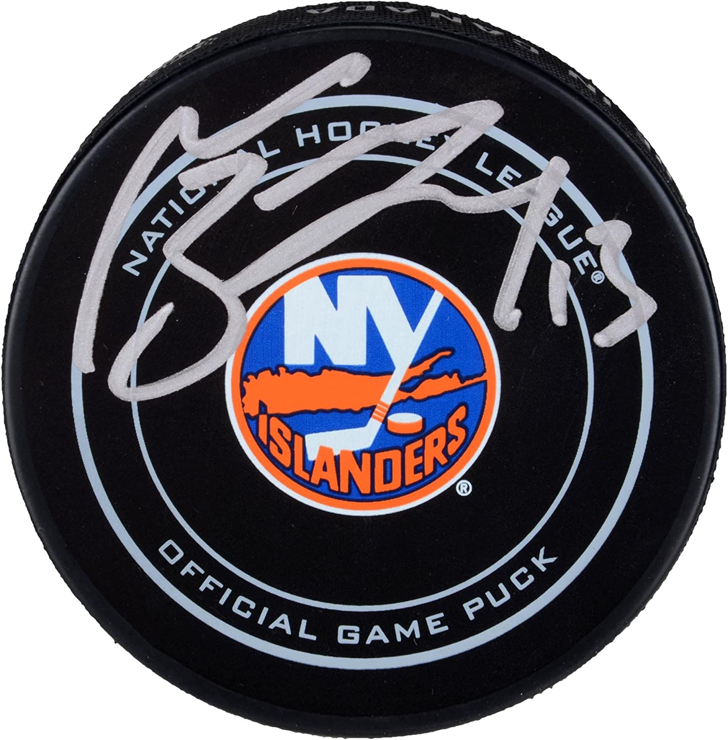 Mathew Barzal New York Islanders Autographed Official Game Puck - Fanatics Authentic Certified - Autographed NHL Pucks