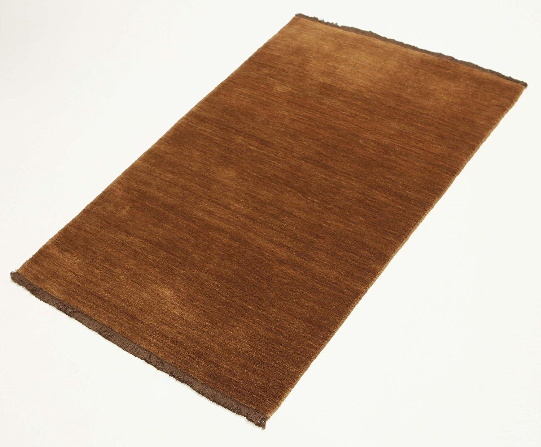 Brown rug 27x311 80x120 cm Handloom fringes Modern Carpet