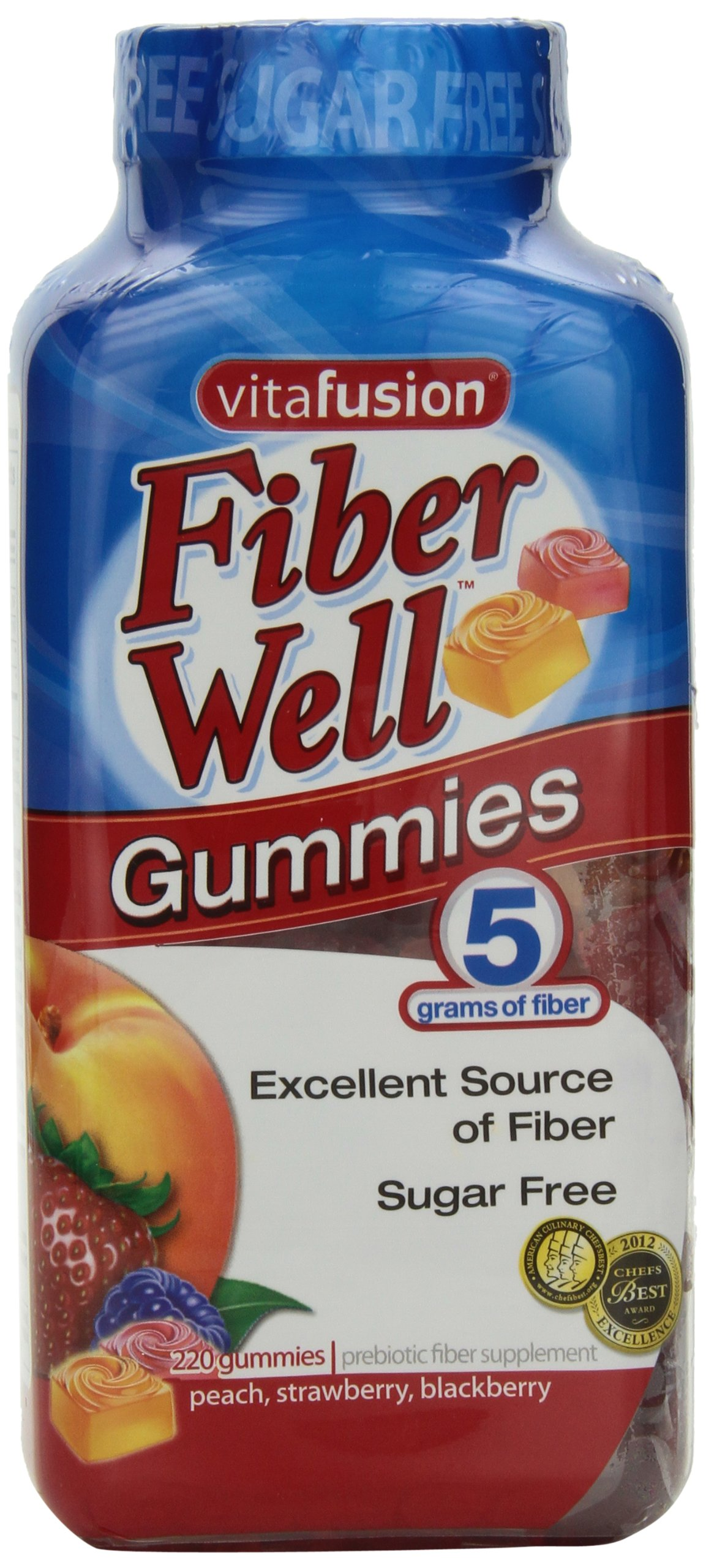 vitafusion Fiber Gummies, 220 Count,5g of fiber,Sugar Free