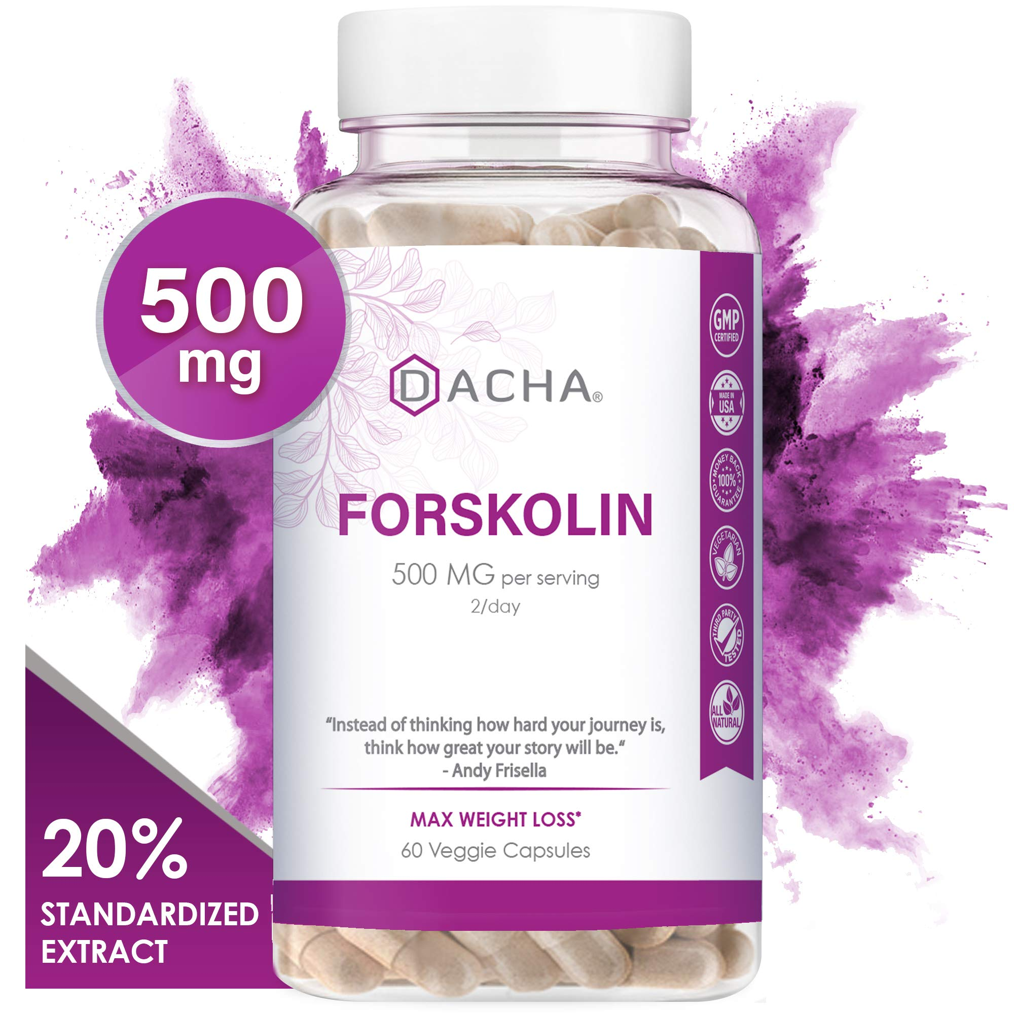 Dacha Forskolin For Weight Loss Max Strength Pure Belly Fat Burner For Men Keto Diet Pills That Work Fast For Women Slim Look Appetite