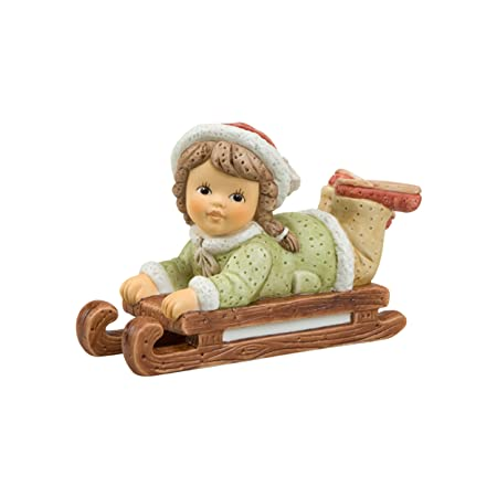 Goebel 11746112 Funny Sleigh Ride Figurine Porcelain Colourful 11 X