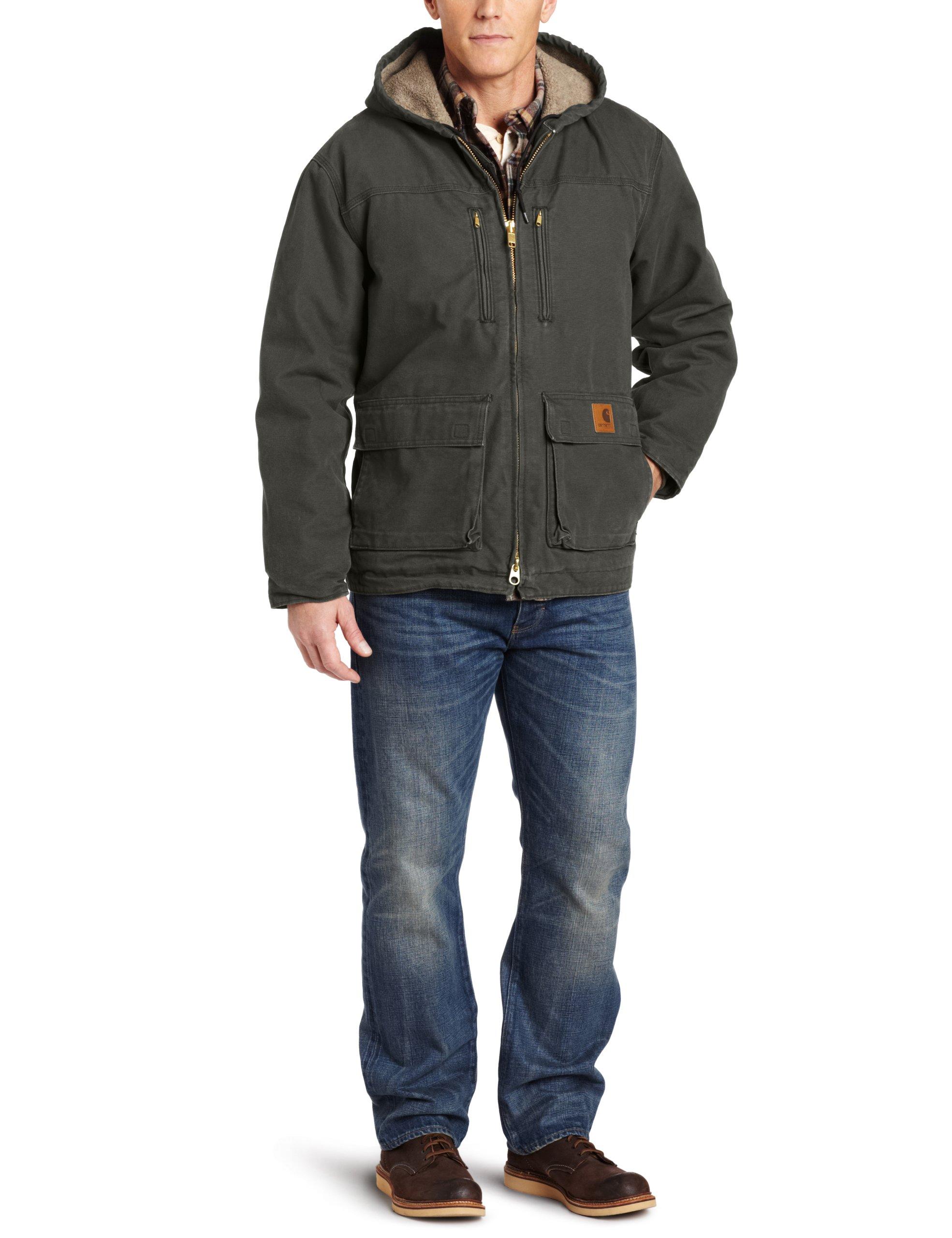 Carhartt Men's Jackson Coat Sherpa Lined Sandstone,Moss (Closeout),XX-Large