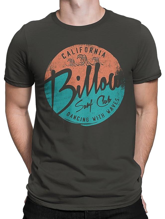 Camiseta Hombre Billow Surf Club - Camiseta 100% algodòn LaMAGLIERIA: Amazon.es: Ropa y accesorios