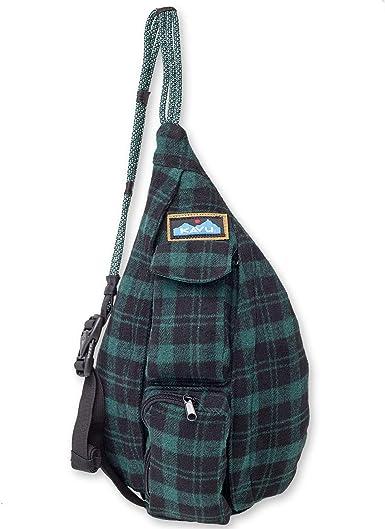 Unisex Checker Plaid Print Linen Cross Body Sling Bag