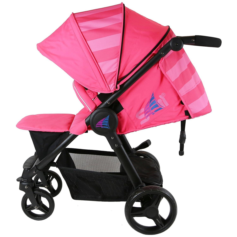 Travel Bag Pink Raspberry Bumper Bar Boot Cover Includes Rain Cover Sail Stroller
