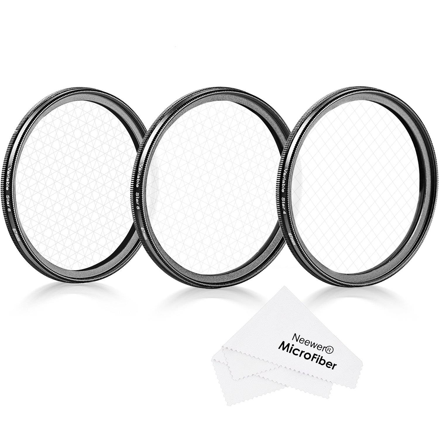 Neewer 67mm Rotated Star Filter Set for Canon Nikon Sony Olympus and Other DSLR Cameras, Includes: 67mm Rotated 4-Point, 6-Point and 8-Point Star Cross Filters by Neewer
