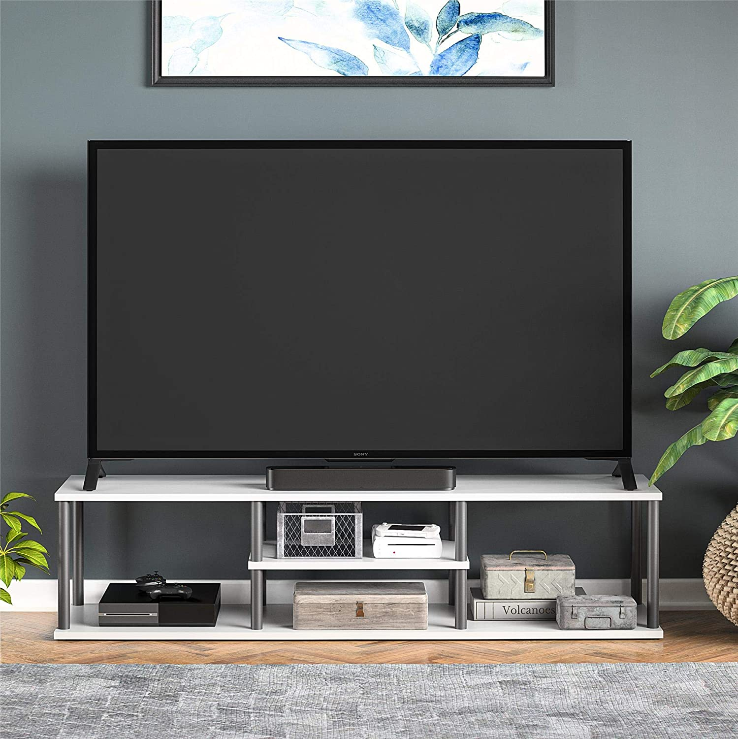Ameriwood Home Laneigh TV Stand for TVs up to 60 Dove Gray