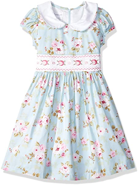 Vintage Style Children's Clothing: Girls, Boys, Baby, Toddler Bonnie Jean Girls Collared Cotton Dress $58.00 AT vintagedancer.com