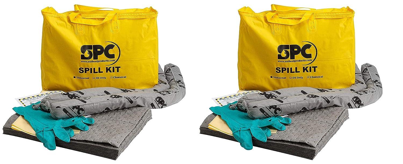 Brady SPC Allwik ユニバーサルエコノミーポータブルスピルキット - 107795 2 Kits イエロー B07GL16S3H  2 Kits