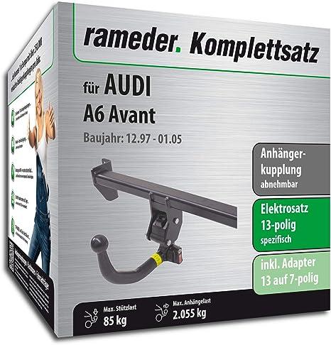 rameder Juego completo, remolque extraíble + 13POL Elektrik para Audi A6 Avant (112770 –