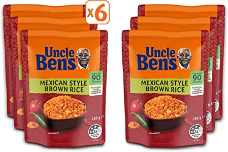 Uncle Ben's Express Mexican Style Brown Rice, 6 x 250g