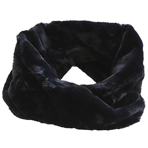 FERETI Écharpe Ronde Femmes Laine Lapin Noir En Fourrure Mohair Teddy Tube  Châle Snood  Amazon.fr  Vêtements et accessoires e0fb607ee39