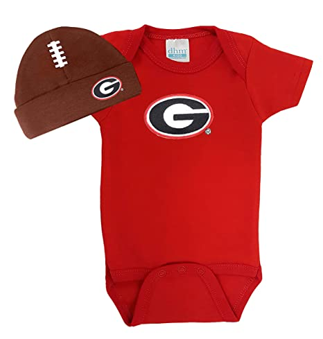 newest 08b40 417f8 Georgia Bulldogs Baby Onesie and Football Hat Set