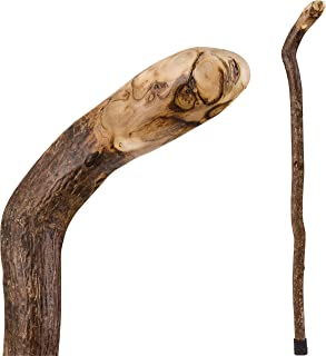 product image for Brazos Walking Cane for Men and Women Handcrafted of Lightweight Wood and made in the USA, Knob Root, 37 Inches