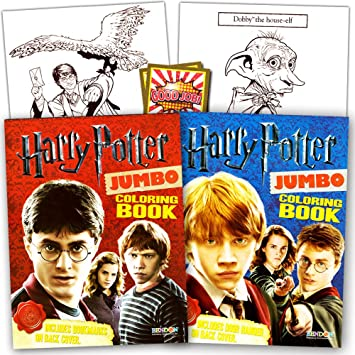 Harry Potter Coloring Book Super Set 2 Books And Reward Stickers