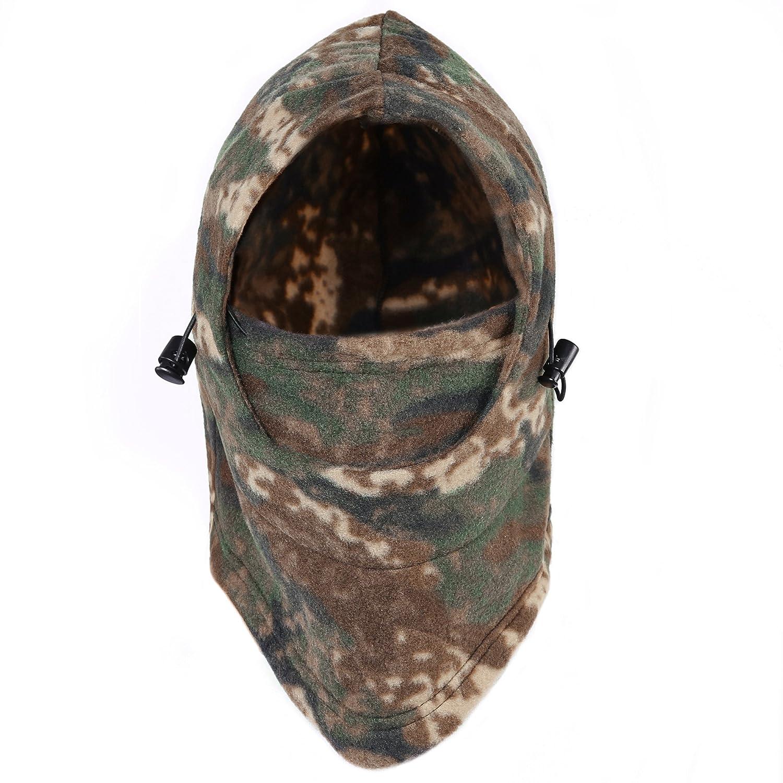 Tagvo Hunting Balaclava Face Mask, Camouflage Fleece Winter Balaclava Tactical Hood,