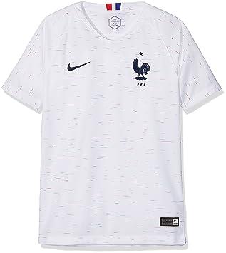 Nike 893988 – 100 – Camiseta de fútbol Infantil, Color Blanc/(Obsidian)
