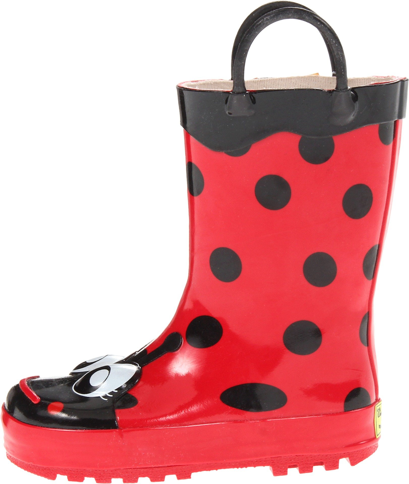Western Chief Girls Waterproof Printed Rain Boot with Easy Pull on Handles, Lucy the Ladybug, 11 M US Little Kid by Western Chief (Image #5)