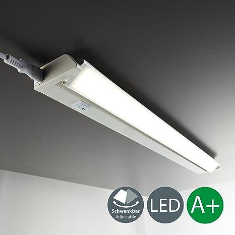 Luce sotto pensile cucina LED, luce bianca neutra 4000K, lampada moderna  per l\'illuminazione da interno, interruttore on off, corpo plastica color  ...