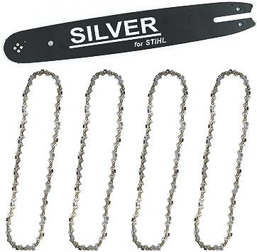 4 Sägeketten für STIHL E 14 Führungsschiene Schwert 35 cm