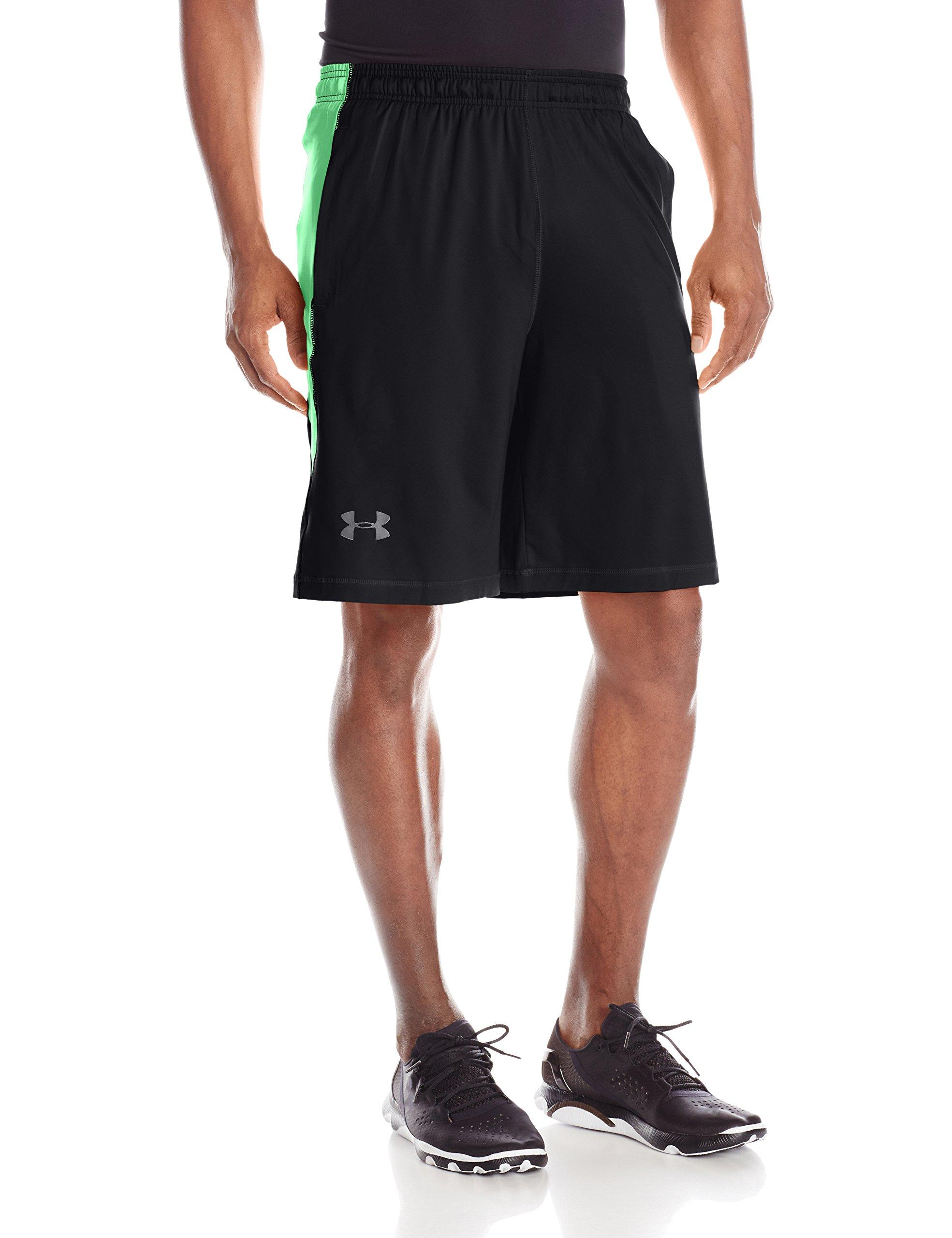 Under Armour Men's Raid 10'' Shorts, Black /Arena Green, Small