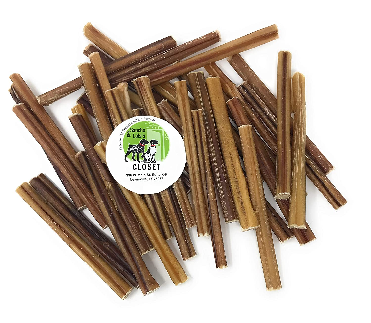 Sancho Lola s 6 Bully Sticks for Dogs Made in USA Rawhide-Free Grain-Free High-Protein Small Beef Pizzle Dog Chews
