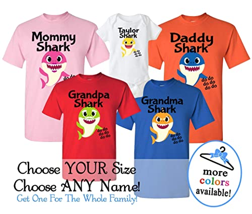 BOY OR GIRL Birthday Outfit Personalize BABY SHARK Birthday T-Shirt w//Name
